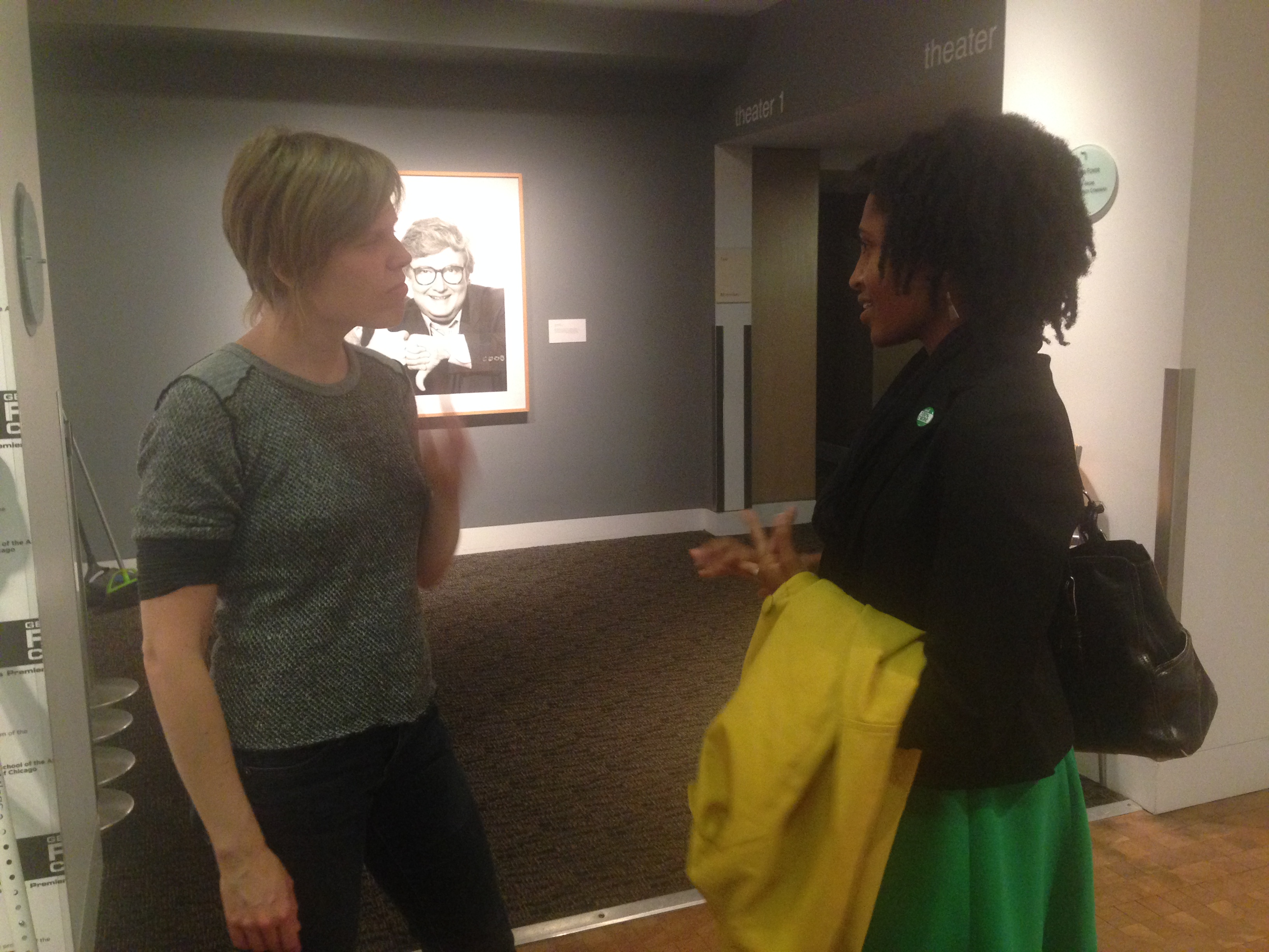 Rebecca in conversation with panelist Adrienne Alexander of AFSCME Council 31